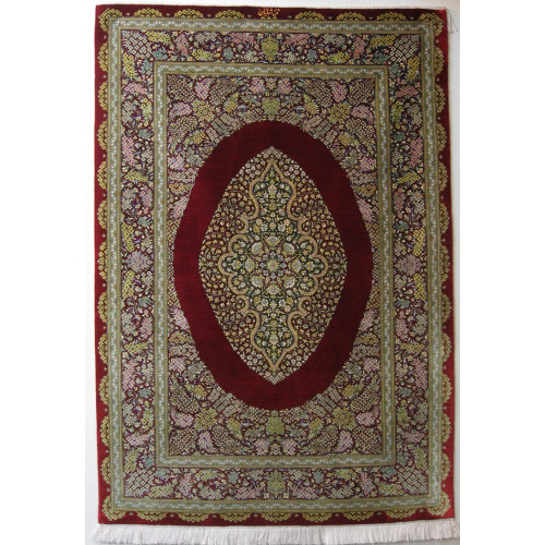Medallion Design Silk Qum Rug - RQ4055