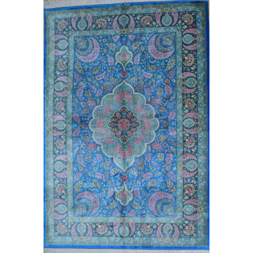 Medallion Design Silk Qum Rug - RQ5047