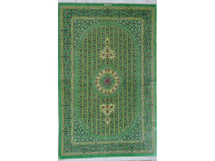 Medallion Design Silk Qum Rug - RQ5048