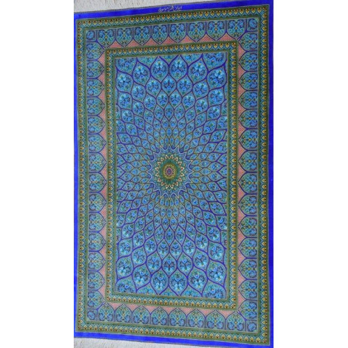 Gonbadi Design Silk Qum Rug - RQ5049